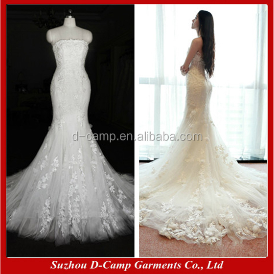 WD108 Latest decent most beautiful fish lace wedding dresses china