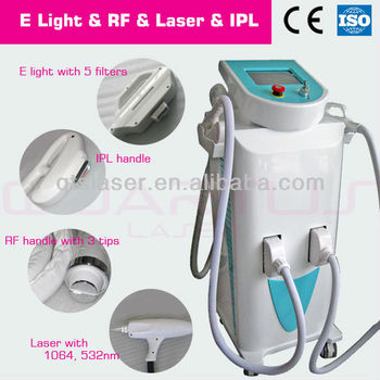 hot new products for 2014 E light IPL Laser RF 4 in 1 multifunctional beauty laser machine