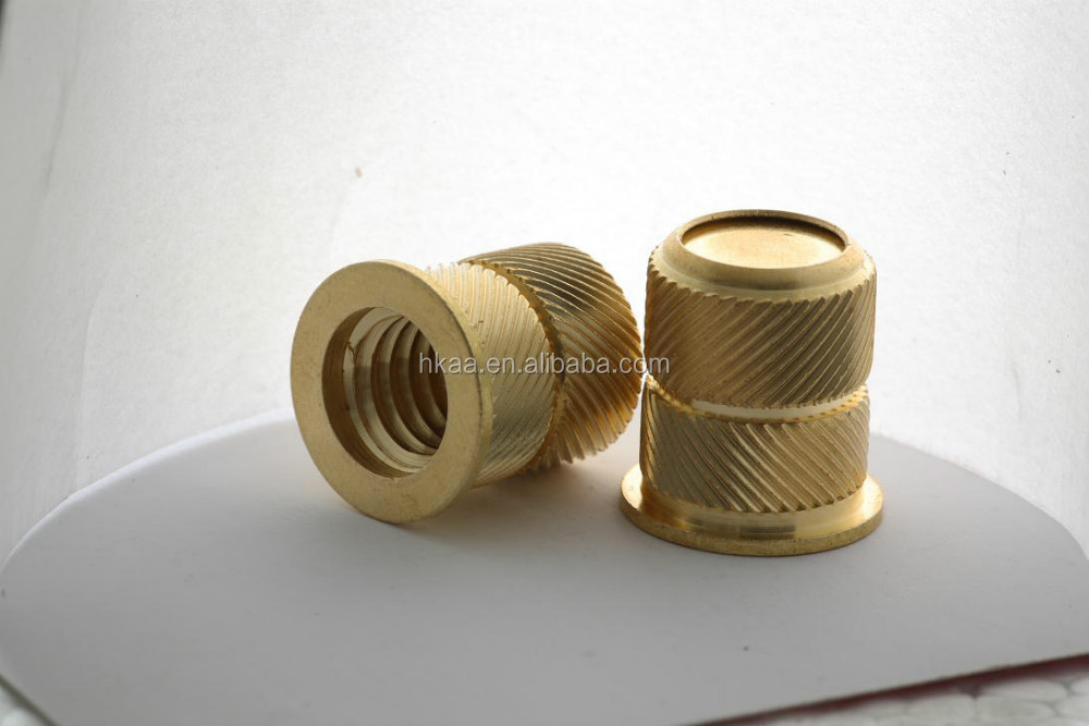 china special custom OEM Blind Hole Brass Inserts Opposite Knurling nut