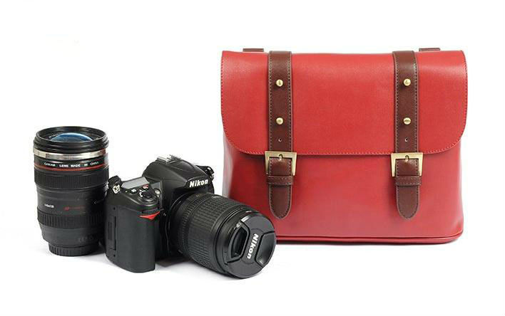 PU Leather DSLR Camera Bag
