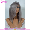 Top quality silver white wig 100% brazilian human hair full lace silver wig