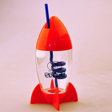 wholesale special shape kids drinking water bottle with straw
