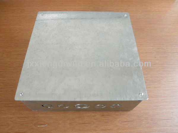 Jiaxing Brothers big Galvanized steel electrical box with knockout for Saudia Market