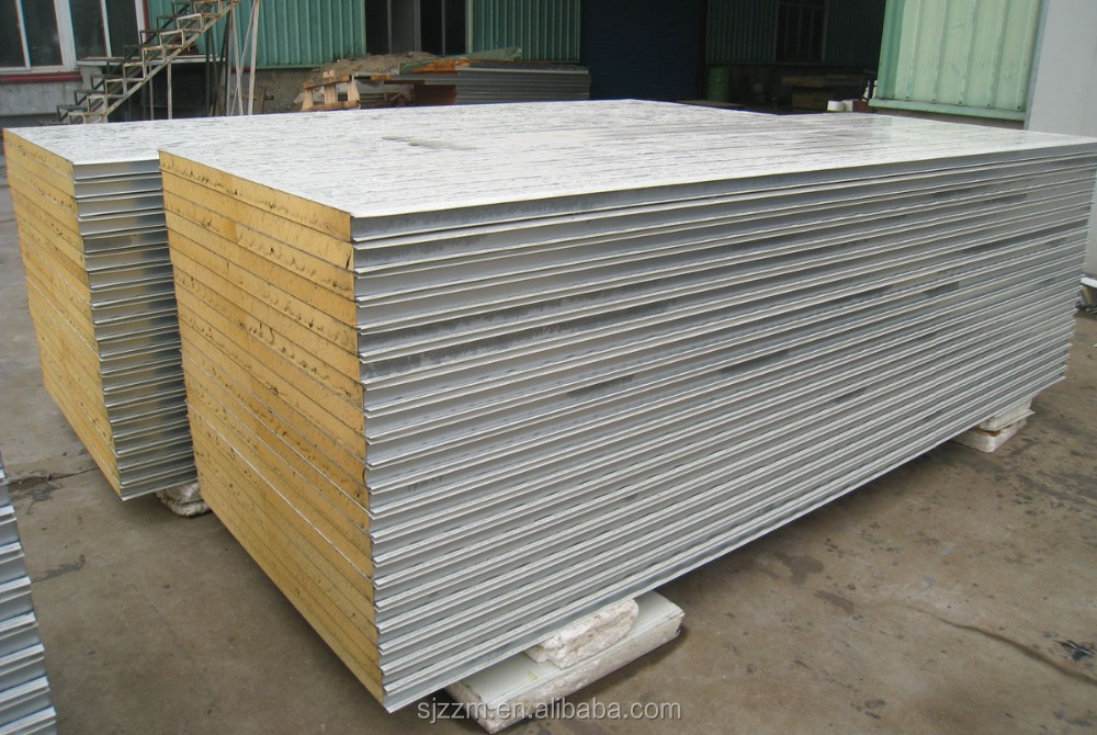 100mm Good Heat Insulation PU Sandwich Panel Factory