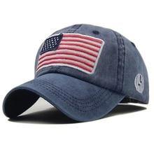 wholesale small order stock Washed old letter baseball <strong>cap</strong> usa flag cotton <strong>cap</strong>