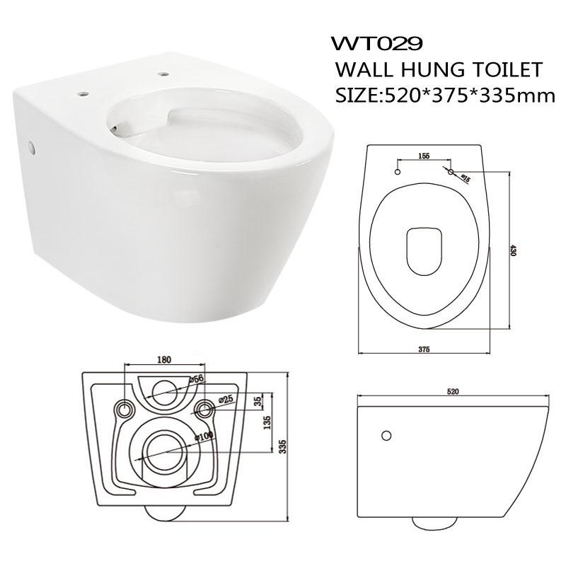 Rimless Sanitary Ware Toilet
