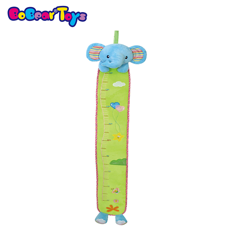 BobearToys children growth plush animal elephant height measurement chart ruler