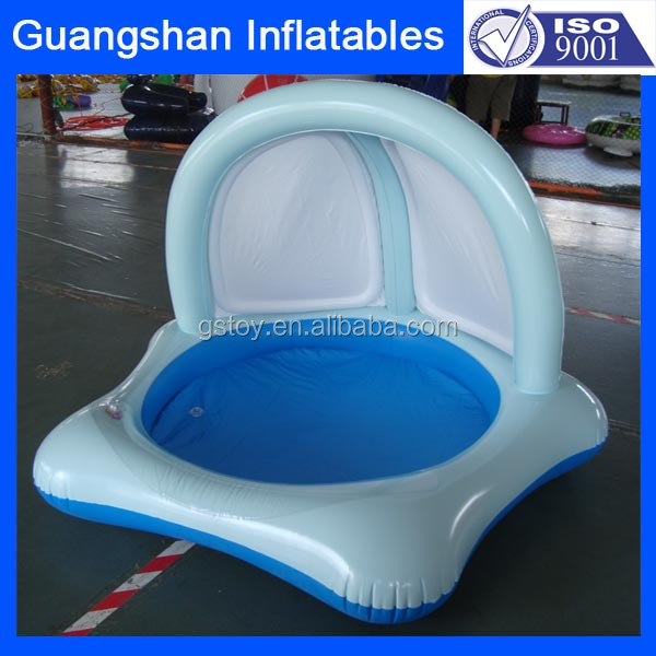inflatable outdoor swimming pool with sunshade