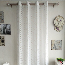 Latest window designs one way vision burnout curtain for christmas