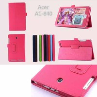 Folio PU Leather Case Stand Cover for Acer Iconia A1-840 8inch Tablet PC