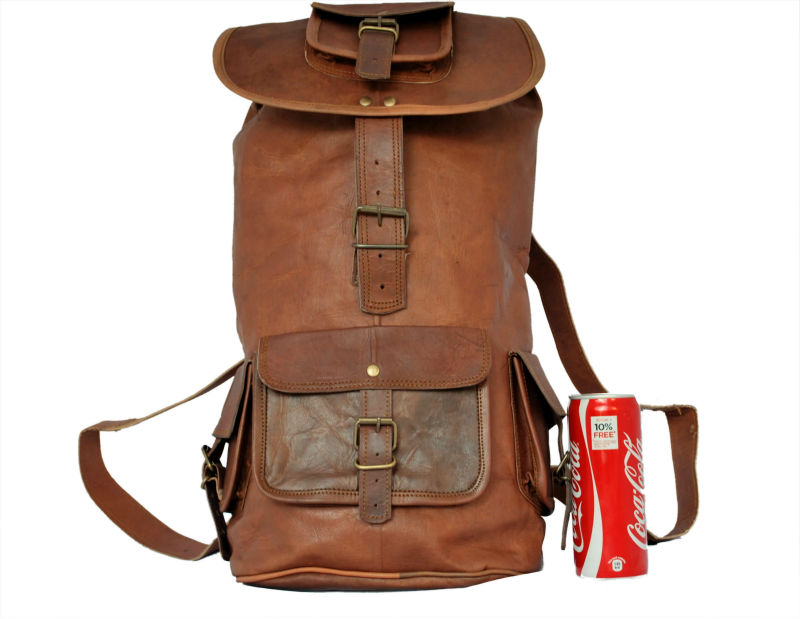 High quality pure goat leather soft backpacks and rucksacks