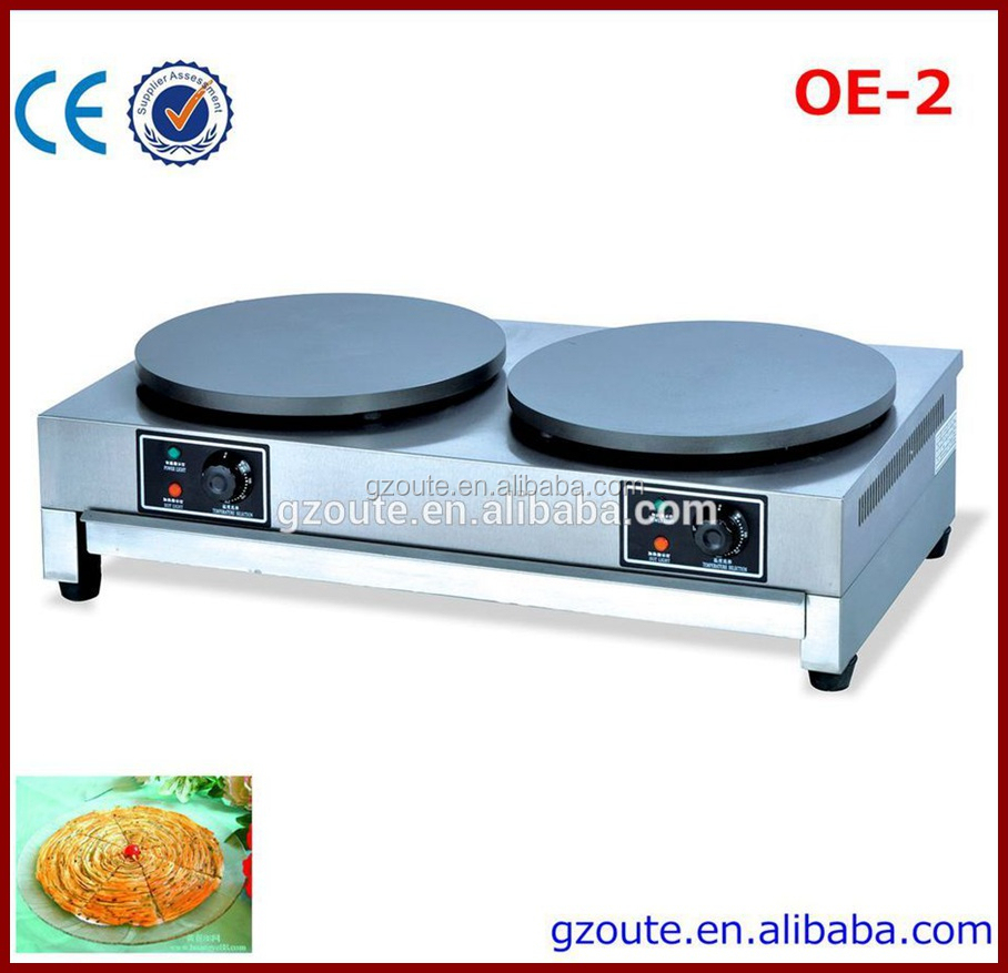 Biscuit Application Electric Non-stick Double Side Crepe Making Machine With Crepe Pan(OE-2)