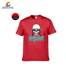 Skull pattern cotton round neck t-shirt accept customization with Own <strong>design</strong>