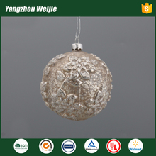 Yangzhou factory export cheapest christmas golden glass balls