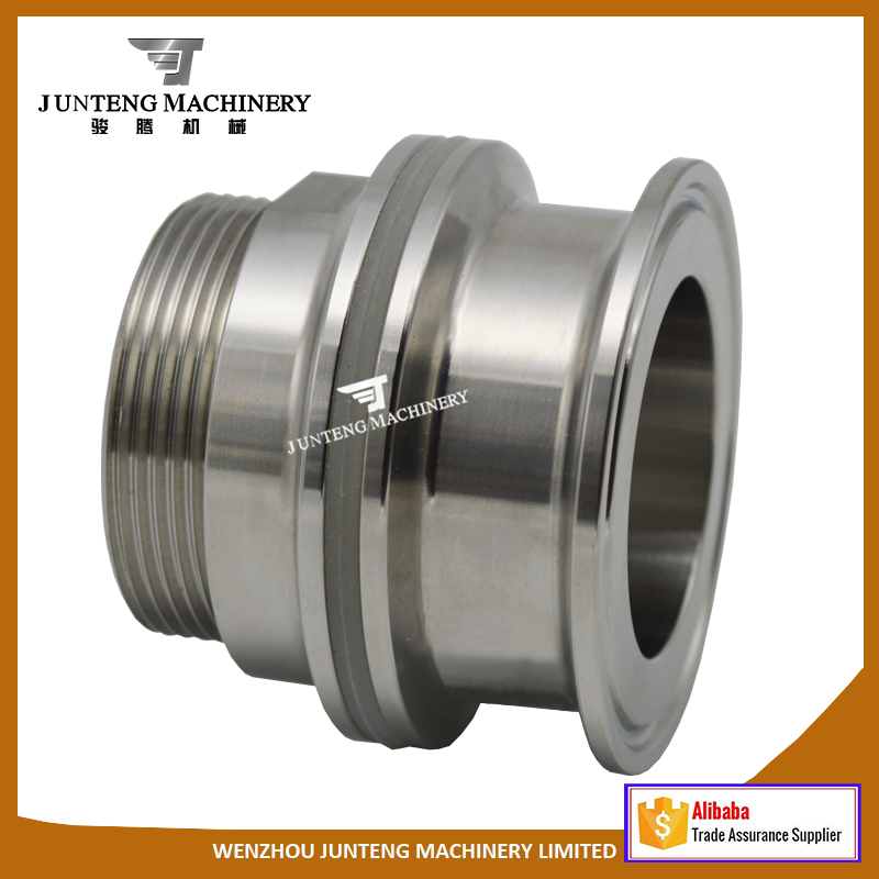 SS304/316L Stainless Steel Tri clamp Thread Adapter/ Weldless Bulkhead Fitting
