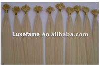 Luxefame grade AAAAA no shedding top quality fast shippment beautiful 100% natural wave nail tip