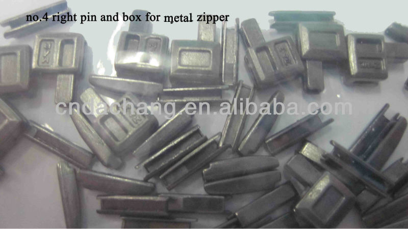 No.4 right pin and box for metal zipper accessories