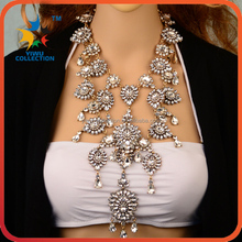 multi layer combined latest design beads chain choker fashion statement necklace