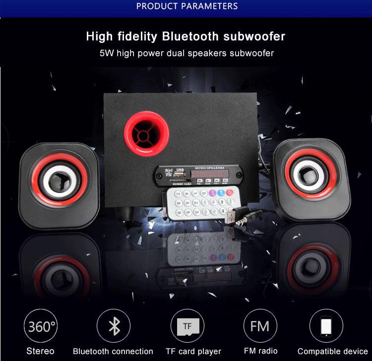 Sans fil ordinateur portable grand woofer haut-parleur prix avec bluetooth