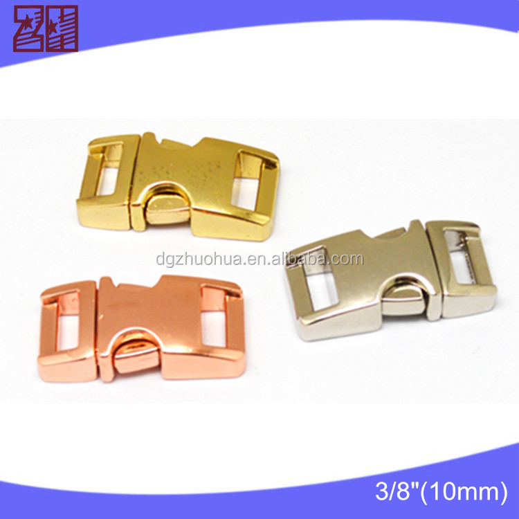 Latest style metal buckles for dog collars,side release bag buckle,metal paracord buckle