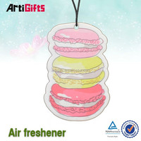 Personalized customisable scented paper car air freshener