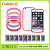 Fatory price most phone Universal Soft Silicone Luminous Protective Phone Bumper Frame Case Cover Ring