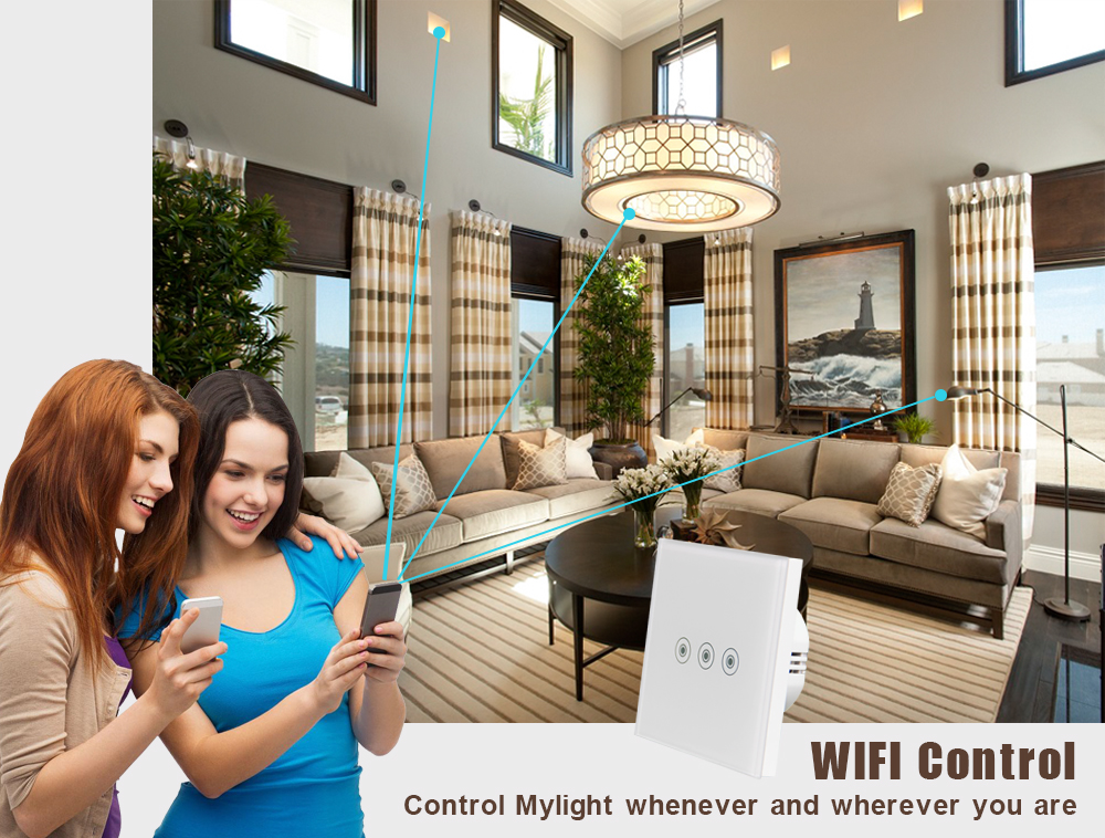 OEM/ODM Wifi Touch Light Switch with Remote Control System