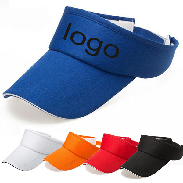 Universal Custom Sun Visor Hat With Sandwich