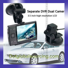 "Cheap Separate DVR Dual Camera 3.5"" LED HD Car Camcorder Vehicle Video Recorder"