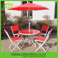 Hot Sell powder coated steel outdoor furniture