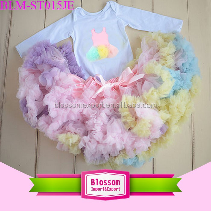 Newborn Baby Girl print little dress Personalized Clothes Birthday Party Dress Romper outfit princess tutu skirt and onesie tee