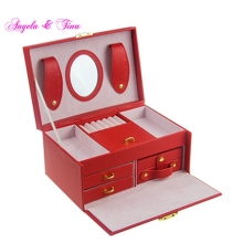 Red Boxes Cardboard Packaging Glass Jewelry Box Beautifully