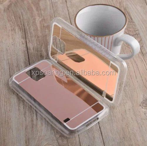 Mirror acrylic tpu case back cover for Samsung Galaxy S5 I9600