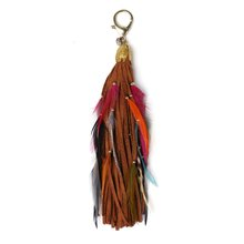 Factory Multi Color Tassel Long Leather Key Chain