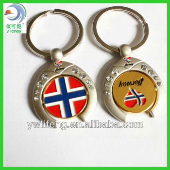 2013 Newest Norway Design Souvenir Metal Keychain