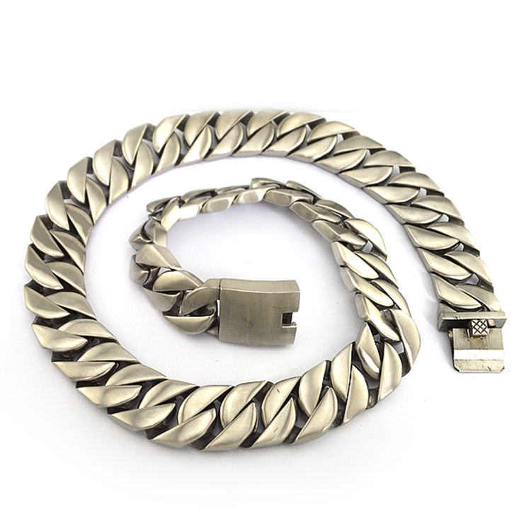 Heavy large fashion stainless steel chain jewelry men necklace