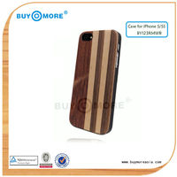 hot selling!Durable and luxury hard case for iphone 5 wooden case back with different strip