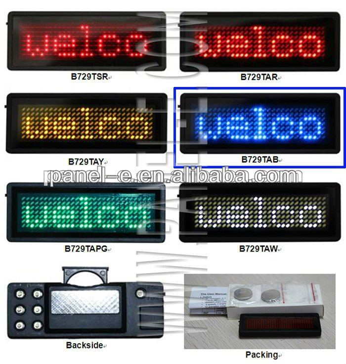led name badge,N.W 25g, manual operation by yourself led small name tages