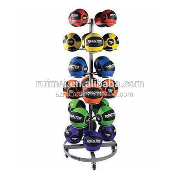 Customized 6-tier wheels rotating metal bowling ball rack