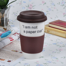 2016 hot sale coffee mugs mug 8oz travel mug with silicon sleeve