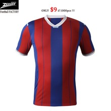 Quick dry mesh round V Polo neck football shirts customize cheap youth adult world cup jersey