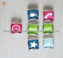 Factory Wholesale Hot-Selling Sale Novel Printing Square Glass Magnet Snap Button In Assorted Colors Flowers Heart