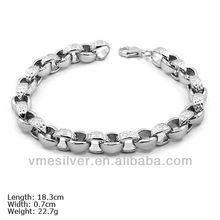 BSU-0925 Real Pure 925 Sterling Silver Bracelet For Birthday Gift