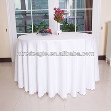 White polyester table cloth