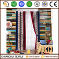 Mediterranean style embroidered cotton linen curtain