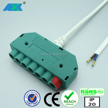ODM & OEM furniture light 24V 6way connection boxes, junction boxes, electrical male female connector with on off new switch