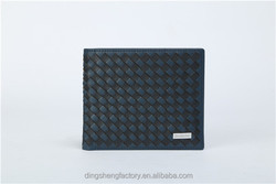 Promotional Gift Knitted Leather Men's Wallet Different Colors Available