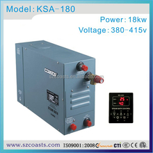 Coasts steam bath generator 3-4kw for commercial use Dual steam outlets