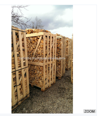 KD Firewood in Wooden Box Pallet 100/100/180
