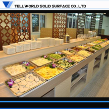 Tell World Custom modern marble top table buffet for food